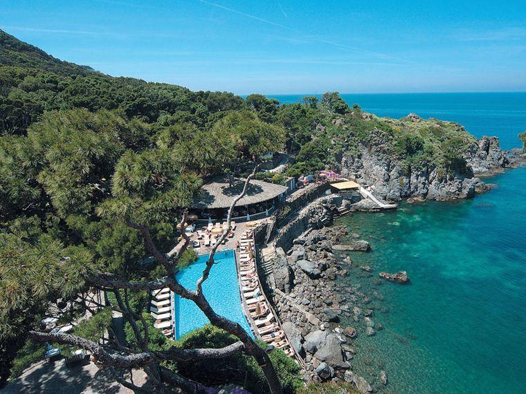 Poolside at Ischia's Mezzatore Resort & Spa.